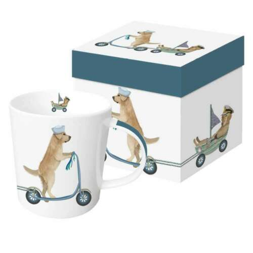 Mug 13.5 oz Scooter Dogs: Golden Retrievers Paperproducts Designs