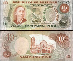 Philippines 10 Piso. NEUF ND (1981) Billet de banque Cat# P.161b
