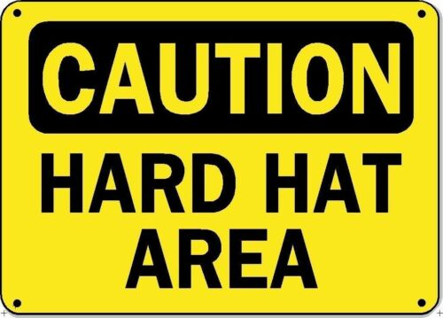 OSHA Safety Decal Sticker Caution Hard Hat Area