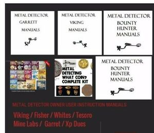 metal detector detecting owners instruction user manual books