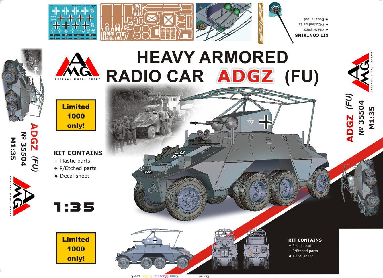 1 35 German Havy armored radio car ADGZ (FU) - NEW-RARE-AMG