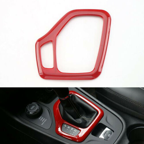 For Jeep Cherokee 2014-2018 RED Gear Box Surround Trim Shifter Cover Panel Frame