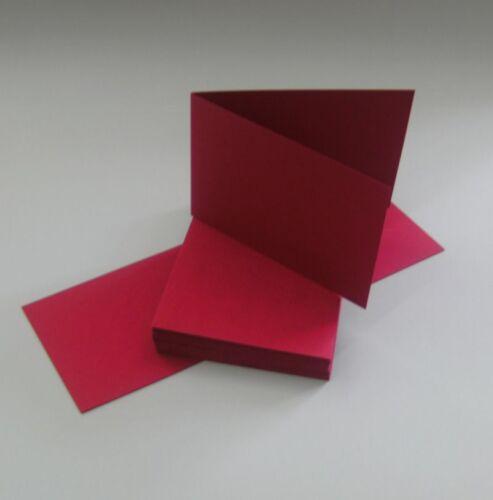 50 Blankokarten Klappkarten Faltkarten Set DIN A 6 Querformat 160 g Kuverts