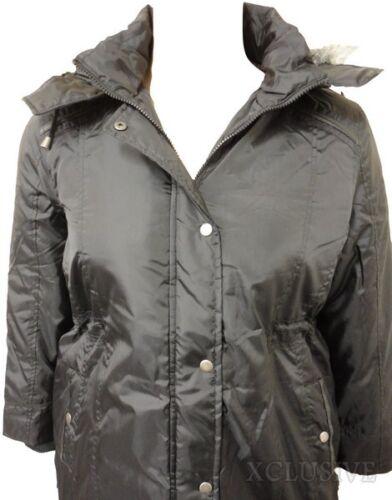 Hooded 18 Rain Coats Ladies Plus Jacket Parka Detail Size Black 26 Pvc Nye 0q1PHH