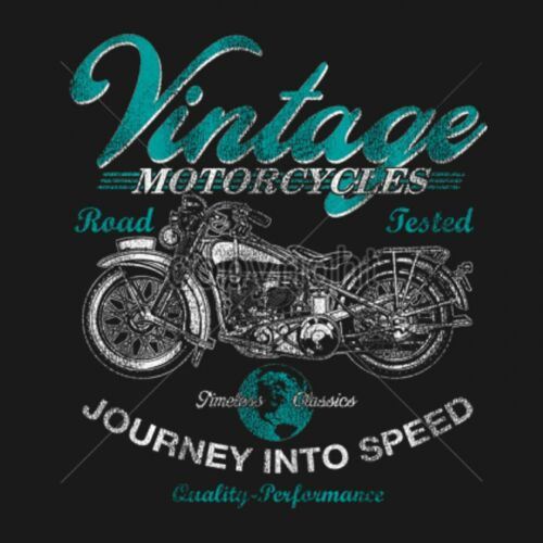 Chopper Biker- Worker SHIRT GRIGIO HD /& oldschoolmotiv modello vintage motorcycles