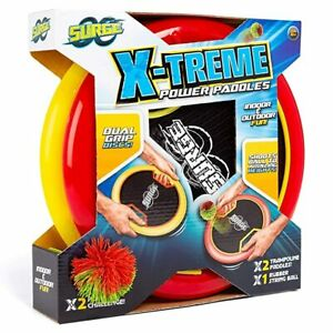 Surge-X-Treme-Power-Paddles-amp-Ball-Reach-Amazing-Heights-Outdoor-Toy-Beach-Game