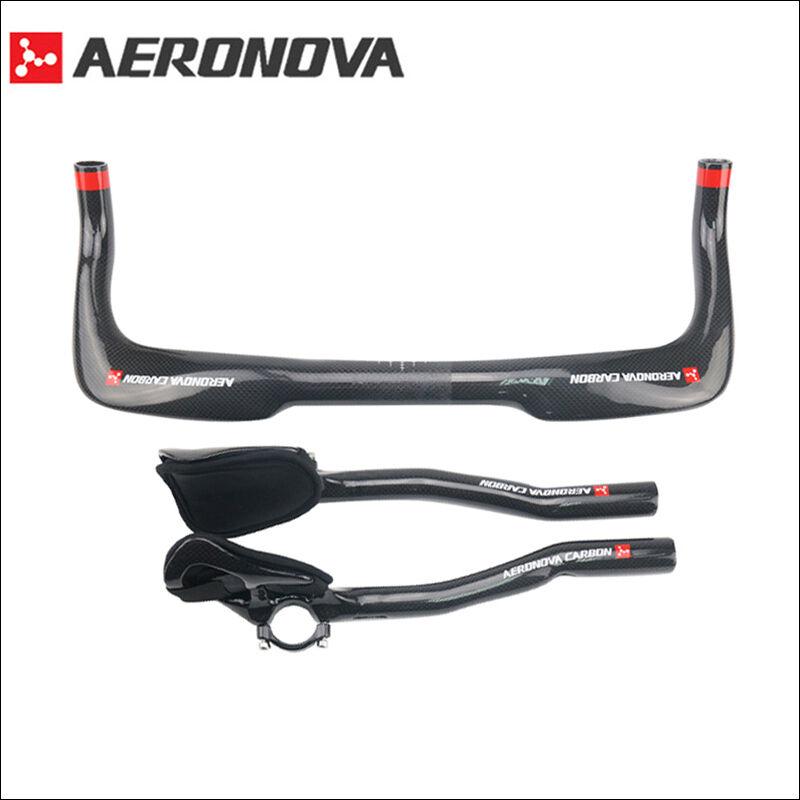 AERONOVA Carbon Fiber Handlebar Road Bike TT Time Trial  Triathlon Bullhorn Bar  new listing