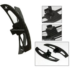 """Carbon fiber SHIFT PADDLE shifter Paddles """"+ -"""" SIGNS for  BMW E46 M3 SMG"""