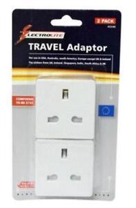 2-x-Travel-Adaptor-Power-Plugs-For-Use-UK-To-USA-Australia-America-Europe