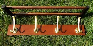 Industrial-Mid-Century-Danish-Modern-Modernist-Massive-Teak-Coat-Hat-Rack