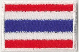 Escudo-parche-bordado-termofusible-pais-parche-Tailandia-Thai-pequeno-45x30-mm
