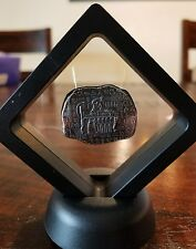 1 oz .999 Silver hand poured Anubus Egyptian antique relic framed Cleopatra Tut