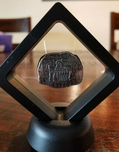 1 oz .999 Silver hand poured Anubis Egyptian antique relic framed Cleopatra Tut