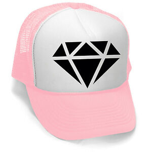 f01a09f5e90 New Black Diamond Trucker Hat Pink White Cap Cali Workout Cool ...