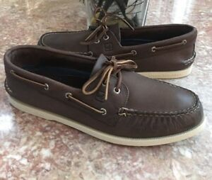New-Sperry-Top-Sider-Men-Brown-Leather-Authentic-Original-Boat-Shoe-Size-12M