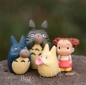 6Pcs Studio Ghibli Resin Briquette Spirit Black Bonsai Resin Figures Scene Anime
