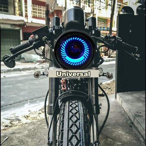 Motorcycle Modify Round Blue Angel Eye LED Headlight High//Low Beam Retro Design