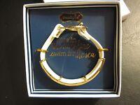 Mud Pie White/gold Barbados Icon Bracelet, In Gift Box