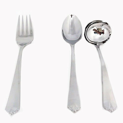 LOTUS by Wallace 3 Piece Hostess Set Stainless 18 8 NEW NEVER USED
