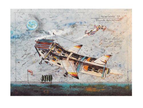 Rainer Hercks Fliegende Architekturen Poster Kunstdruck Bild 30x40cm