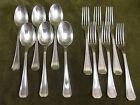 6 couverts dessert metal argente christofle Boreal dessert forks spoons