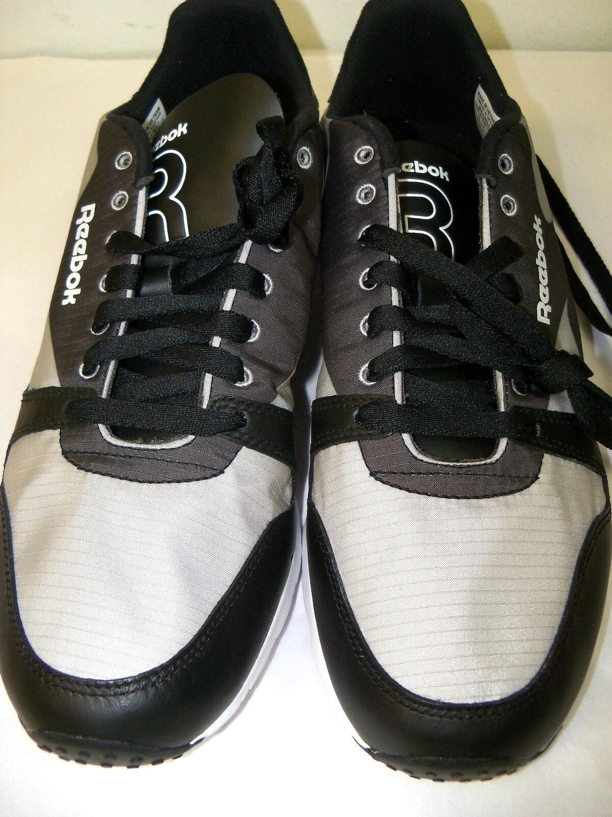 REEBOK UOMO TAGLIE 8.5 running sneakers nero & Grigio - leggera peso -nwob sho-7 Scarpe classiche da uomo