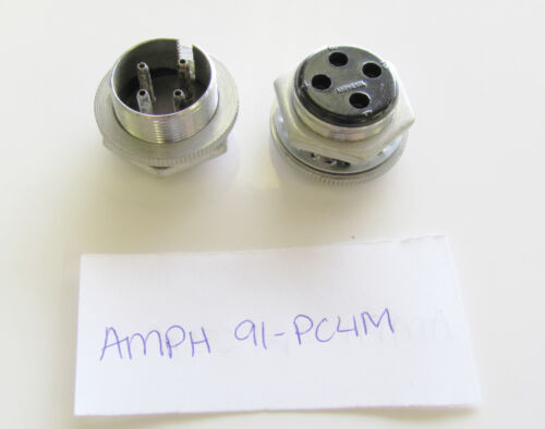 4 Contact 91PC4M Amphenol Wire Pro 91-PC4M NOS Male Panel Receptacle