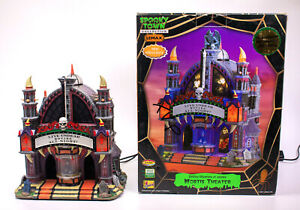 Lemax Spooky Town Collection Halloween Village Mortis Theater Lighted & Animated