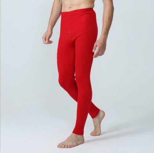 2019 New Mens Cashmere Wool Blend Winter Underwear Thin Knitted Long Pants warm