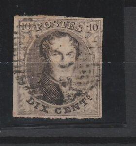 FRANCOBOLLI-1850-BELGIO-LEOPOLDO-I-C-10-BRUNO-Z-9379