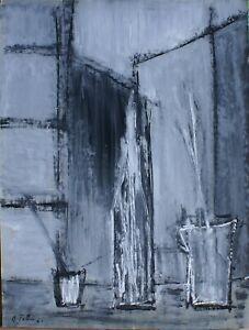 """André TELLIER  - """"""""  Nature morte""""  GOUACHE vers 1950/60"""
