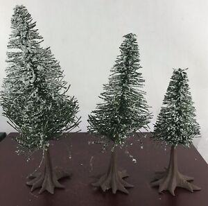 Department 56 Flocked Pine Trees