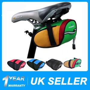 Waterproof Bike Cycling Saddle Bag Seat Pouch Bicycle Tail Back Rear Storage UK