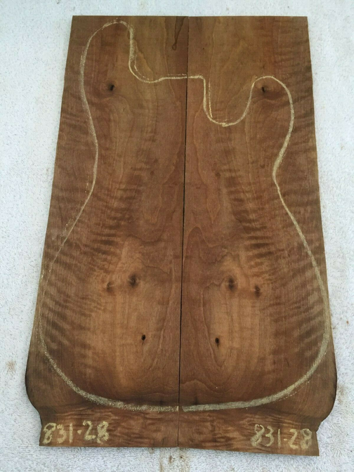 English Walnut book match set guitar tone wood .28 x 13.25 x 22.5    831-28