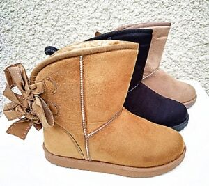 Femme Bottine Fourré Fourrure Fur chaussure Cheville Court Hiver ... 69ffff603b2f