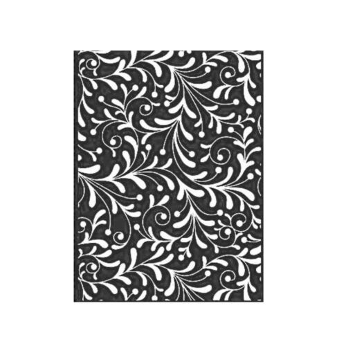 Christmas Embossing Folder Echo Park Holiday Flourish Swirls Craft Folders