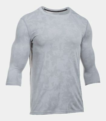 Activewear Generous Under Armour Men's Steel Gray Ua Threadborne Utility 3/4 Sleeve T-shirt