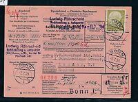 88734) Auslands - Postanweisung Heuss 70PF EF ab Bonn 1 nach England