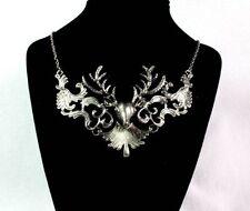 US-Fashion Elk Deer Design Pendant Bib Statement Exquisite Necklace Jewelry New