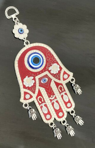 Evil Eye Hamsa Hand Home Office Wall Hanging Amulet Ornament for Protection R