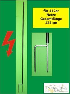 Ersatzpfahl-f-Schafzaun-Gefluegelzaun-Hundezaun-Doppelspitze-90cm-108cm-112cm
