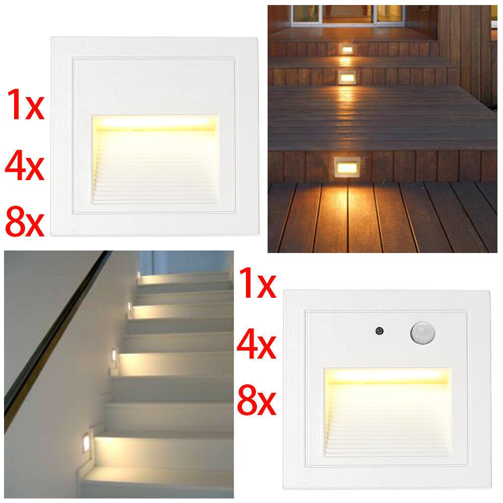 3W LED Wandeinbauleuchte Treppe Stufenlicht Lampe Bewegungsmelder wasserdicht     Verschiedene Stile    Eine Große Vielfalt An Modelle 2019 Neue    Förderung