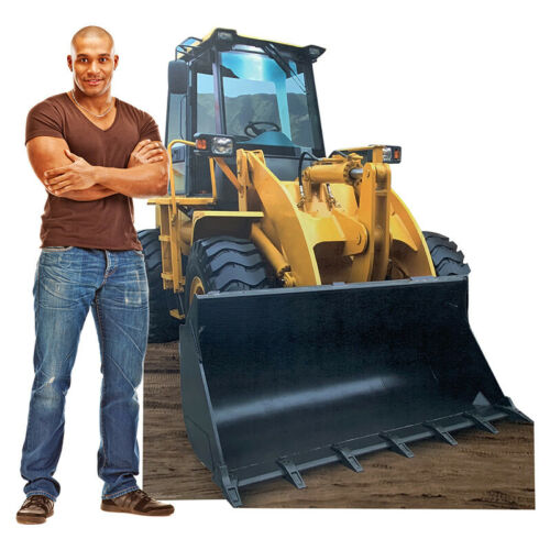 FRONT LOADER 6/' Tall CARDBOARD CUTOUT Standup Standee Poster Construction Prop