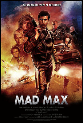 Mad Max Movie 1979 Mel Gibson Canvas Poster Art Prints Picture 8x12 24x36 inch