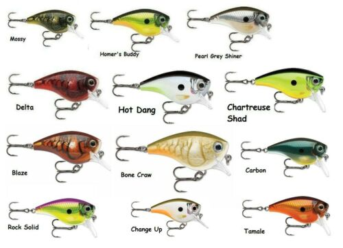Choice of Colors Rapala Balsa Extreme BX Big Brat 06 Squarebill Crankbait