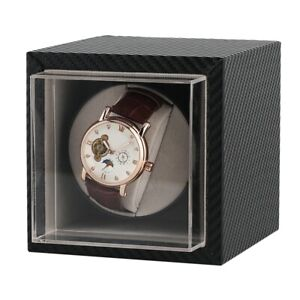 Single-Watch-Winder-Wood-Display-Box-Case-Luxury-Storage-Automatic-Rotate