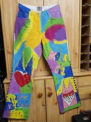 Hose, Handbemalt, Größe 38, Unikat Elegant Im Stil