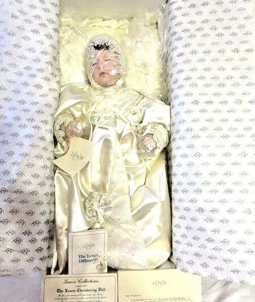 Lenox Porcelain Victorian Christening Doll - 1991 Exc. Condition Nuovo In Box