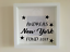 IKEA RIBBA Box Frame Personalised Vinyl Wall Art New York savings Fund Stars