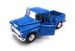 Model-Car-Chevrolet-Stepside-Blue-Car-Scale-1-3-4-39-Licensed
